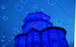 Art lights in Turin Royalty Free Stock Photography