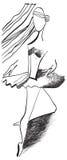 Art of Line Art - Ballerina Stock Image