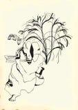 Art of Line Art - Philosopher Royalty Free Stock Image