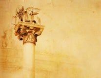 Art Lion av San Marco Arkivbilder