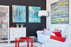 Art living room Royalty Free Stock Images