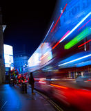 Art London night city traffic Royalty Free Stock Images
