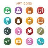 Art long shadow icons. Flat vector symbols Royalty Free Stock Photo