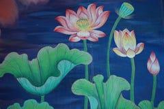Art of lotus Royalty Free Stock Image