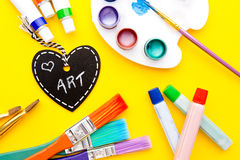 Art - Love. Handwritten on heart shape chalkboard royalty free stock image