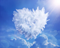 Art Love Heart soaring in the clouds Royalty Free Stock Photography