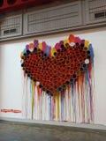 Art is love stock photos