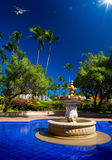 Art Luxury tropical hotel resort Royalty Free Stock Photos