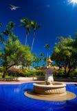 Art Luxury tropisk hotellsemesterort Royaltyfria Foton
