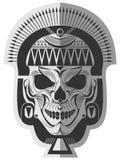 Art mémorable de conception de crâne illustration libre de droits