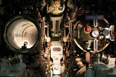 The art of the machine. A submarine docked in Philadelphia, which is its torpedo tubes Royalty Free Stock Image