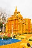 Art made of lemons and oranges in the famous Lemon Festival (Fete du Citron) in Menton, France. The famous fruit garden receives 230,000 visitors a year stock photo