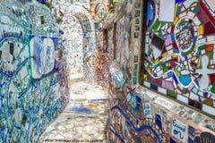 Art magique de rue de jardins, Philadelphie, Pennsylvanie Photographie stock libre de droits
