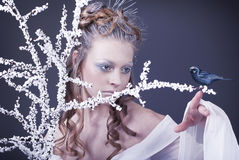 With  art make-up Royalty Free Stock Images