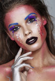 Art make up. Fashion body . Colorful Stock Images