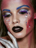 Art make up. Fashion body . Colorful Royalty Free Stock Image