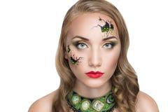 Broken face doll Stock Photography