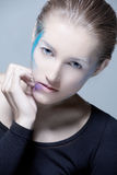 ART Makeup Blondie Girl Royalty Free Stock Image