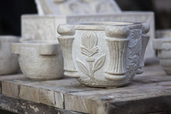 Art of the marble vase Royalty Free Stock Photography