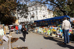 Art market outdoor Stock Photos