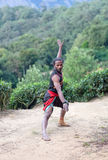 Art martial de Kalaripayattu au Kerala, Inde du sud Photographie stock