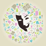 Art mask Royalty Free Stock Photos