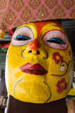 Art of mask. Made from paper taken from artist house, Thailand stock photos