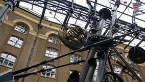 Art. The mast of an iron ship. stock video