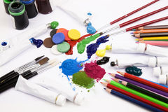 Art materials Royalty Free Stock Image