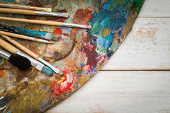 Art materials stock images