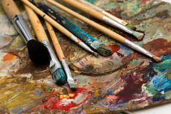 Art materials stock image