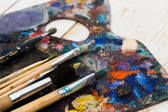 Art materials royalty free stock photography
