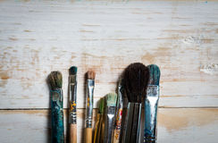 Art materials stock photo