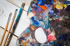 Art materials royalty free stock photos