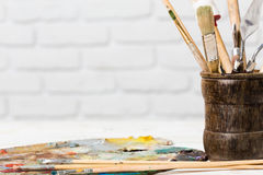 Art materials Stock Photo