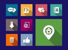 Art, media and web flat icons set Stock Photography