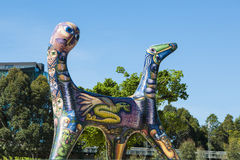 Art Melbourne Dog med två huvud Arkivbilder
