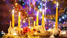Art merry Christmas and happy new year stock video footage