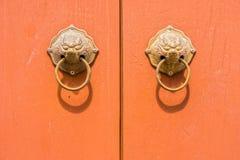 The art of metal door knocker Royalty Free Stock Photography