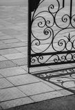 Art metal grille. Hand-forged art grille door royalty free stock images