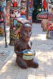 Art metallic statue Royalty Free Stock Photo