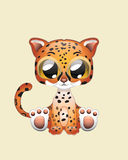 Art mignon d'illustration de vecteur de Jaguar Photo libre de droits