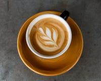 Art milk mocha coffee Royalty Free Stock Images