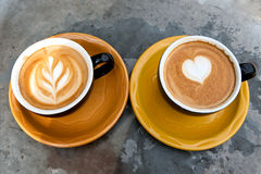 Art milk mocha coffee Royalty Free Stock Photos