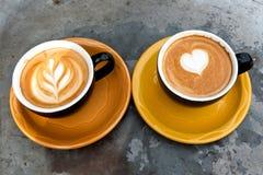 Art milk mocha coffee Stock Images