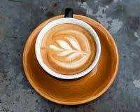 Art milk mocha coffee Stock Image