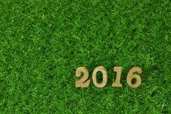 Art mit 2016 hölzerne Zahlen Stockbilder