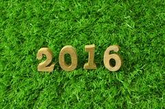 Art mit 2016 hölzerne Zahlen Stockfotos
