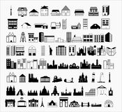 Art Modern Buildings vector illustration