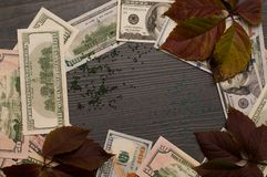 Art of money, circle swing. stock photography